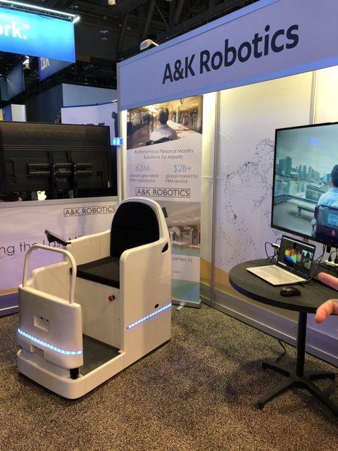 A&K Robotics Smart Wheelchair for airports.